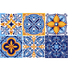 italian ceramic tile pattern ethnic folk ornament vector image
