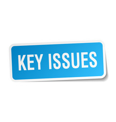Key issues square sticker on white vector