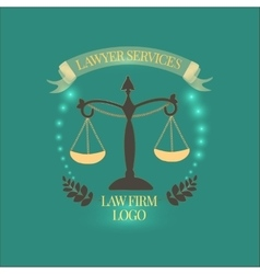 Law firm services gold vector