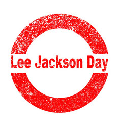 Lee jackson day vector