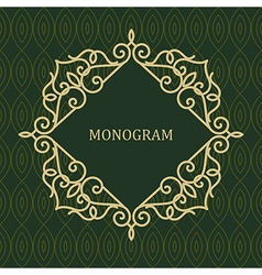 Line Frame for Monogram vector image