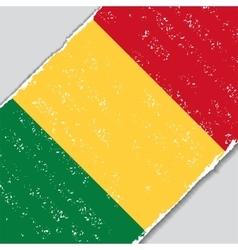 Malian grunge flag vector image