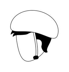 Man wearing helmet icon image vector