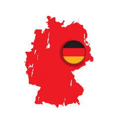 Map of germany with a label vector