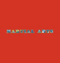 Martial arts concept word art vector