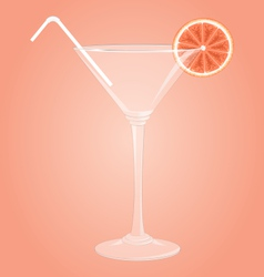 Martini glass with grapefruit vector image