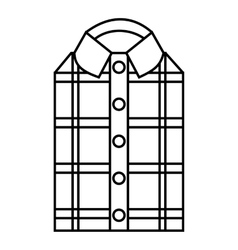 Men shirt icon outline style vector image