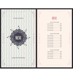 menu for the restaurant vector image