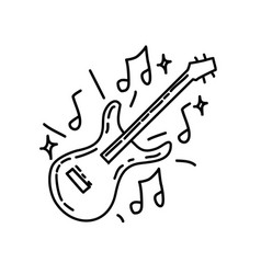 music icon doddle hand drawn or black outline vector image