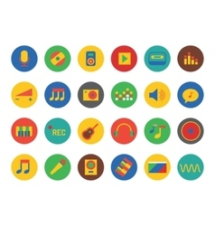 Music Icons Set Sound tools or Dj and vector