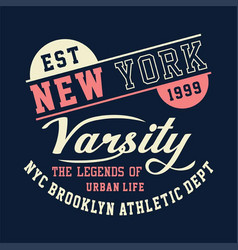 New york varsity brooklyn athletic vector