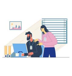 Office work concept vector