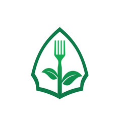 organic food vegetarians logo icon vector image