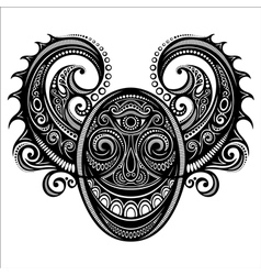 Ornate Face of Demon vector image