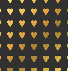 Pattern with Golden Hearts Background for vector image