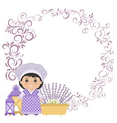Photo frame with elements of Provence vector