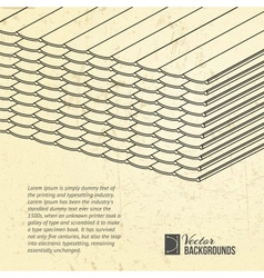 Pile of roofing tiles packaged vector