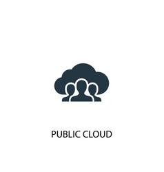 public cloud icon simple element vector image