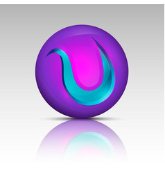 purple colored circle logo vector image