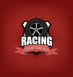 racing logo template design vector image