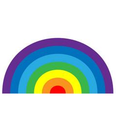 Rainbow icon cartoon isolated white background vector