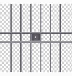 realistic metal prison grillesthuster machine vector image