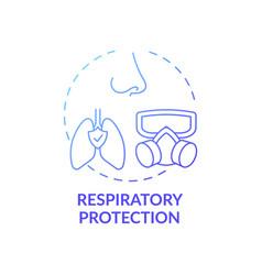Respiratory protection concept icon vector