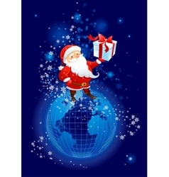 Santa Claus on the planet Earth vector image