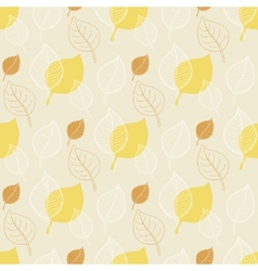 Seamless Autumn patternabstract yellow leaf vector image