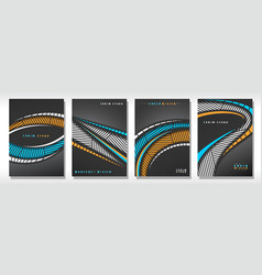 set of book covers vector image