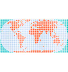 square dotted world map vector image