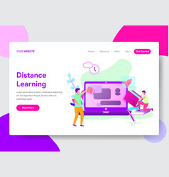 student distance learning concept vector image