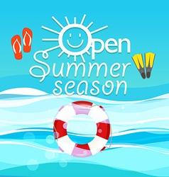 Summer season vacation Open summer season concept vector image