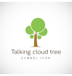 Talking Cloud Tree Concept Symbol Icon vector image