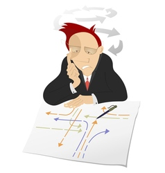 Thinking man vector