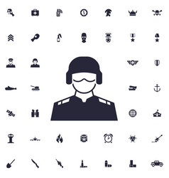 Trooper icon vector