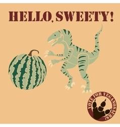 vegetarian dinosaur vector image