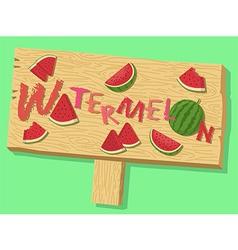 Watermelon Sign Board vector
