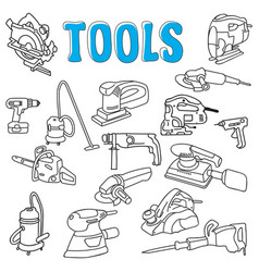 working construction tools vector image
