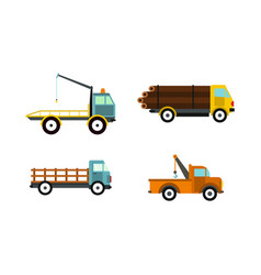 Wrecker icon set flat style vector