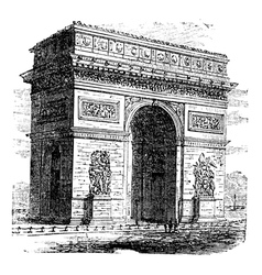 Arc de Triomphe vector image vector image