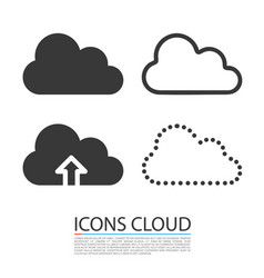 cloud icons set template design vector image