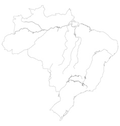 Contour map of Brazil vector image vector image
