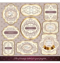 set of elegance labels vector image