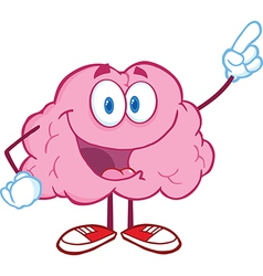 Brain Character Pointing With A Finger vector image vector image