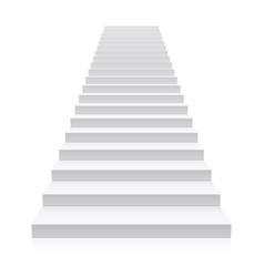 front view of white staircase vector image vector image