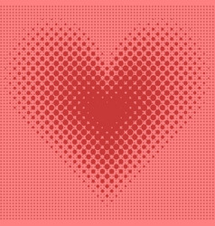heart halftone background vector image vector image