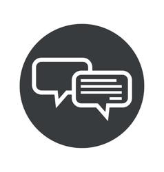Monochrome round chatting icon vector image