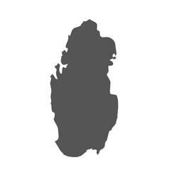 qatar map black icon on white background vector image vector image
