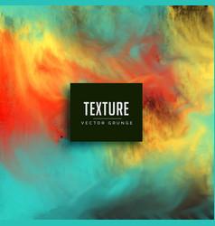 watercolor ink flowing texture background vector image vector image